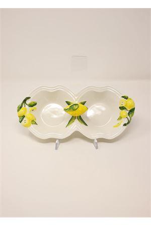 pair of ceramic saucers for aperitifs Sea Gull Capri | 20000026 | APER2COPPLIMBIANCO