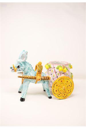 Ceramic donkey with cart  Sea Gull Capri | 5032238 | ASINOCARRROSA
