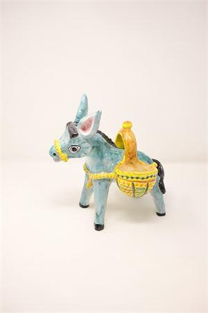 painted ceramic donkey Sea Gull Capri | 5032238 | ASINOPSPORTEBIANCO