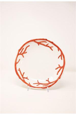 coral ceramic soup plate Sea Gull Capri | 5032235 | PIATTOFONDOCCORALLO