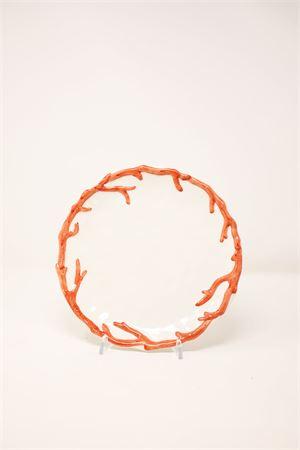 ceramic fruit plate Sea Gull Capri | 5032235 | PIATTOFRCORALLO