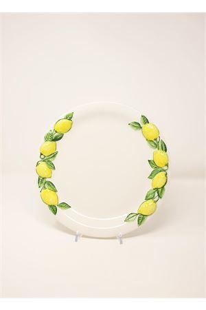 flat plate in ceramic with lemons Sea Gull Capri | 5032235 | PIATTOPIANOBIANCO