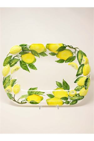 rectangular plate decorated with lemons Sea Gull Capri | 5032235 | PIATTORETTLIMONIBIANCO