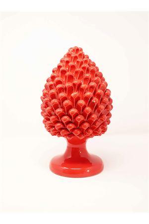 Red ceramic pinecone Sea Gull Capri | 20000025 | PIGNAROSSAGROSSO