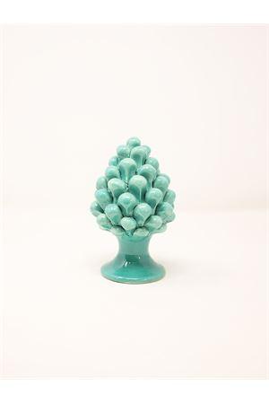 Green ceramic pine cone from caltagirone Sea Gull Capri | 20000025 | PIGNAVERDEPVERDE