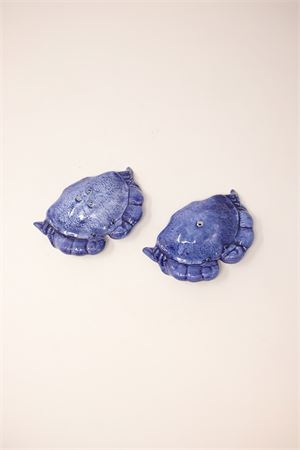 Salt and pepper ceramic set in the shape of crabs Sea Gull Capri | 20000026 | SPGRANCHIBLU