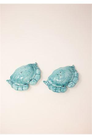 Salt and pepper ceramic set in the shape of crabs Sea Gull Capri | 20000026 | SPGRANCHITURCHESE