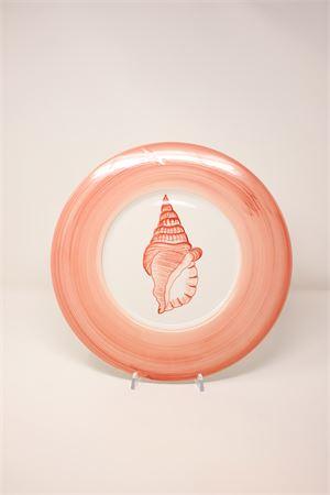 coral-colored ceramic placemat Sea Gull Capri | 5032235 | SPSCCORALCORALLO