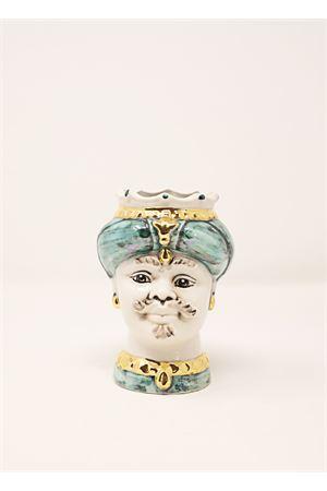 Vaso ceramica a forma di testa di moro Sea Gull Capri | 5032238 | TESTAVOUVERDE