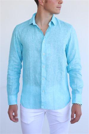 Camicia da uomo turchese Vincenzo De Lauziers | 6 | DR304TURCHESE