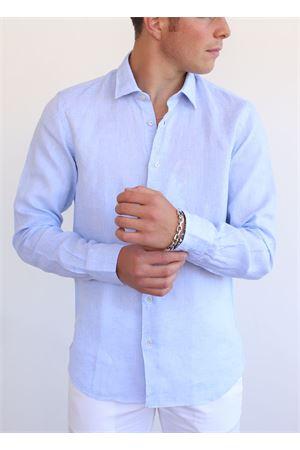 Camicia in lino colore celeste Vincenzo De Lauziers | 6 | VI868CELESTE