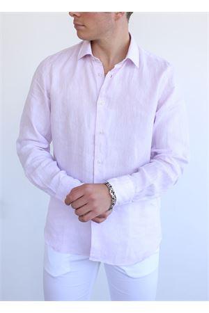 pink linen shirt for men Vincenzo De Lauziers | 6 | VI868ROSA