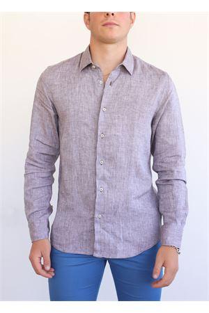Camicia in lino color tortora Vincenzo De Lauziers | 6 | VI868TORTORA