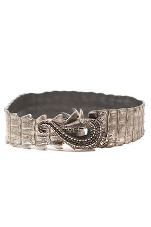 Cintura in Coccodrillo autentico color argento Da Costanzo | 22 | CINTURACOCCODRILLOJEWELARGENTO