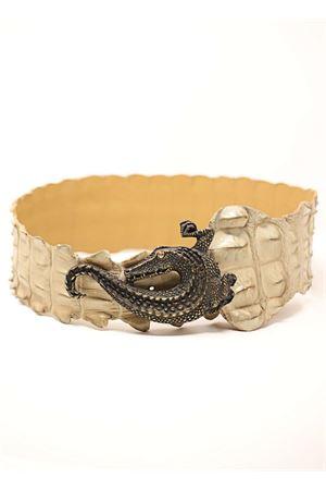 Cintura in coccodrillo beige Da Costanzo | 22 | CINTURACOCCODRILLOJEWELBEIGE