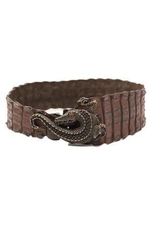 Cintura gioiello in coccodrillo Da Costanzo | 22 | CINTURACOCCODRILLOJEWELMARRONE