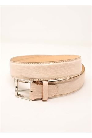 cintura in pelle effetto iguana rosa Da Costanzo | 22 | CINTURAIGUANAROSA