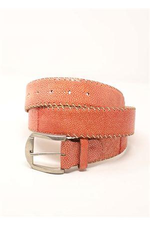Cintura donna in pelle arancione Da Costanzo | 22 | CINTURARAZZAARANCIO