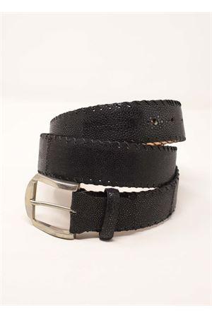 Cintura in pelle lavorata nera Da Costanzo | 22 | CINTURARAZZANERO