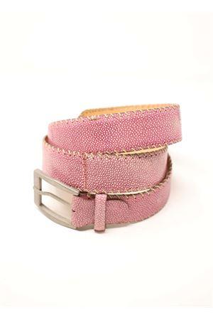 cintura donna in pelle rosa Da Costanzo | 22 | CINTURARAZZAROSA