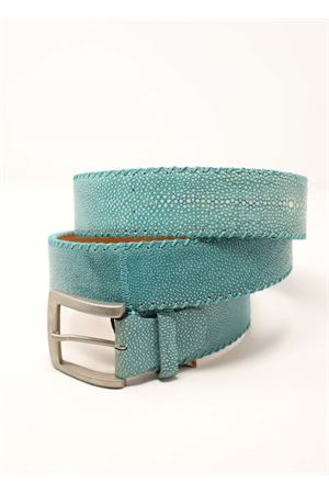 cintura donna in pelle turchese Da Costanzo | 22 | CINTURARAZZATURCHESE