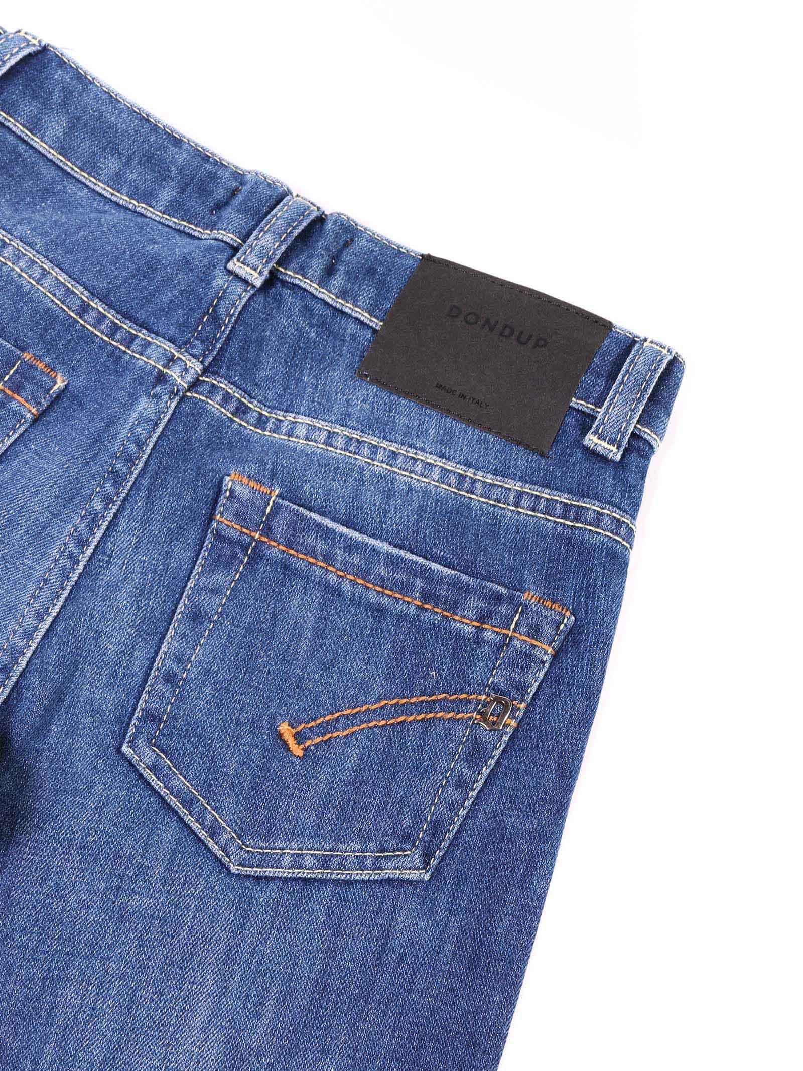 jeans denim con scritte Dondup | Pantalone | BP215 DS0107 AU5W BD W20800