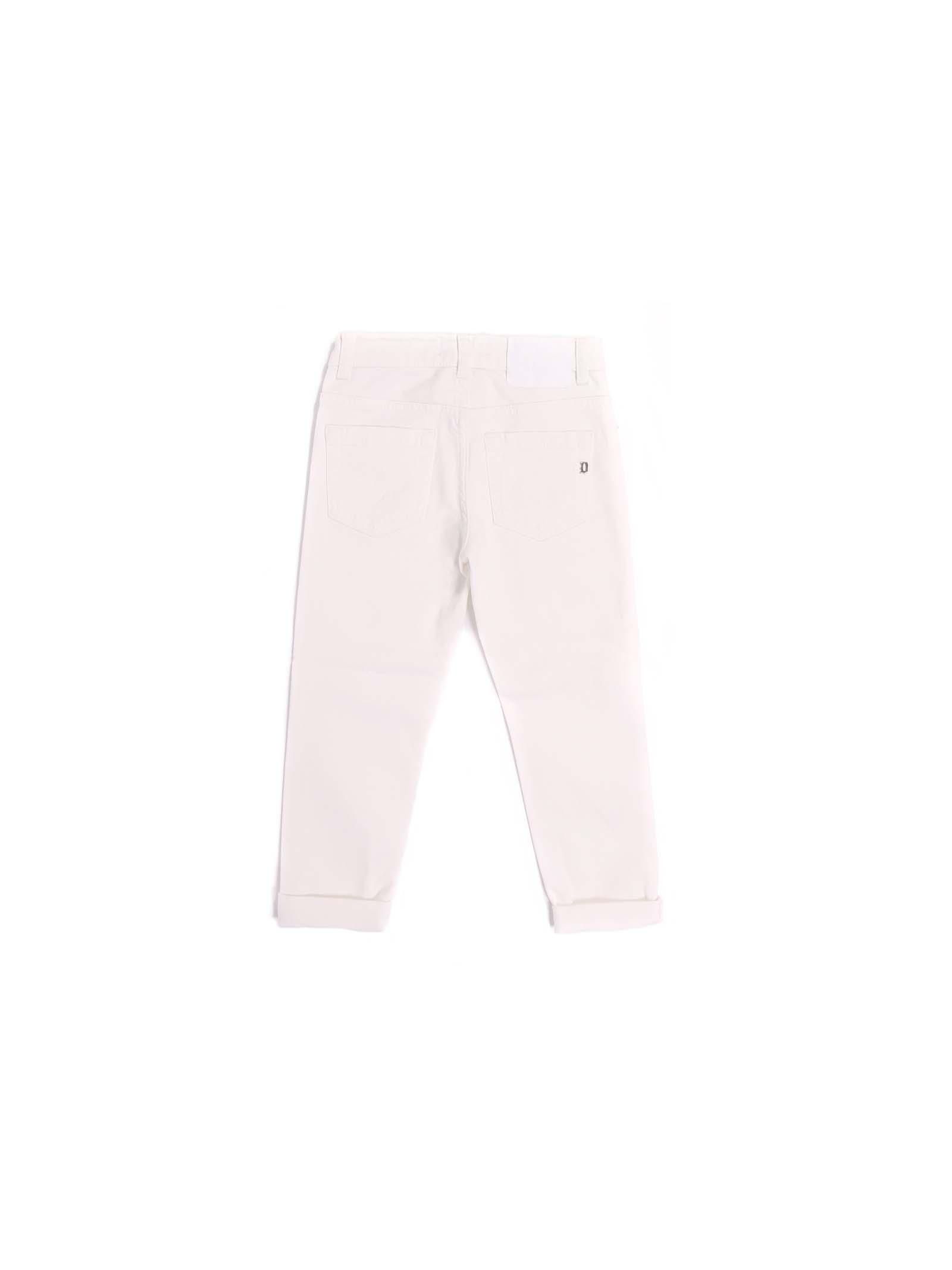 jeans denim bianco Dondup   Pantalone   BP217 BS0009 PTD W20001