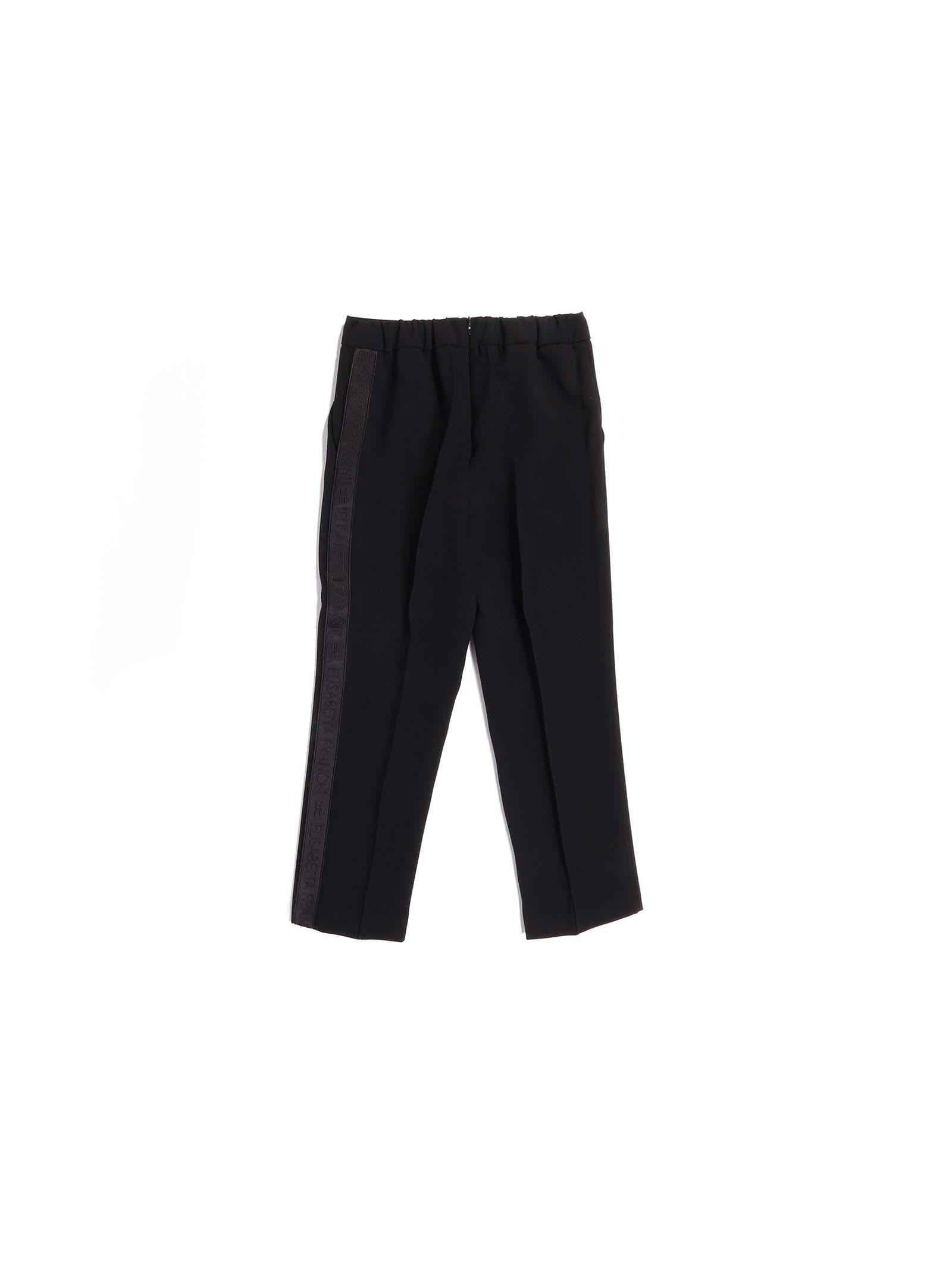 pantalone nero con banda laterale Elisabetta Franchi   Pantalone   EFPA95-GA85-ZE0220076