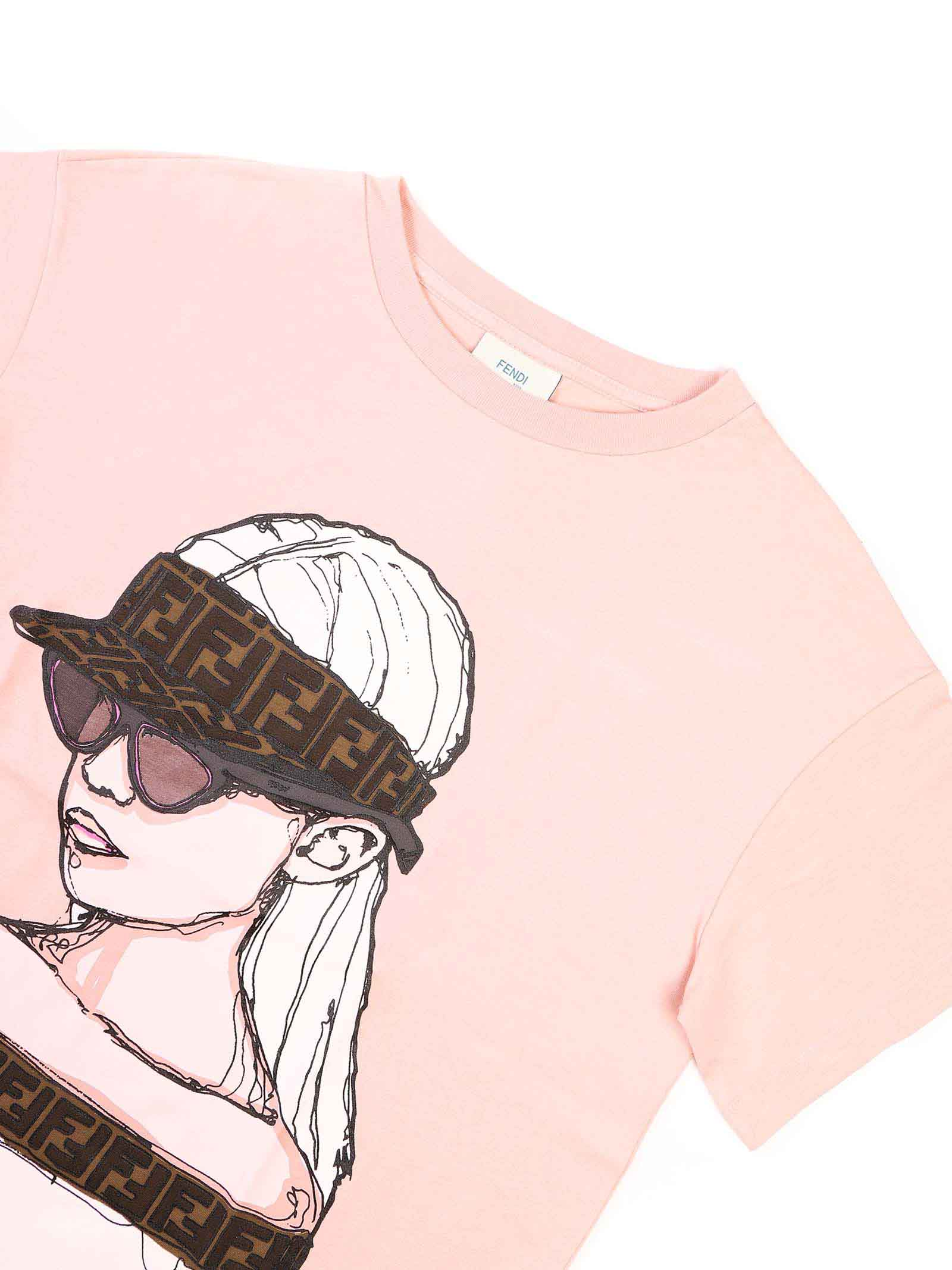 T-shirt mezza manica con stampa Fendi | T-shirt | JFI206 7AJF19J0