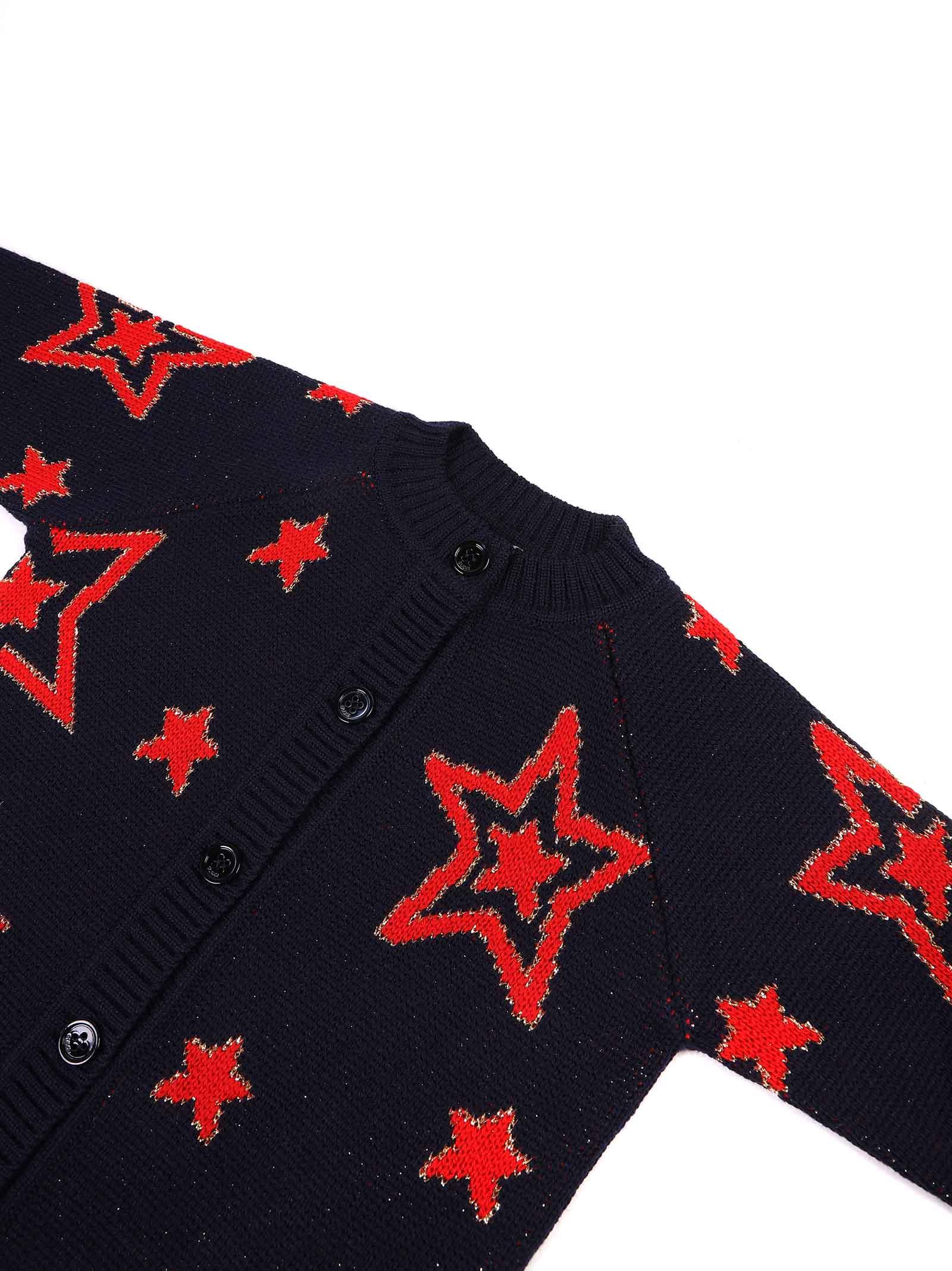 cardigan con stelle e scritta sul retro Gucci | Cardigan | 621857 XKBGX4696