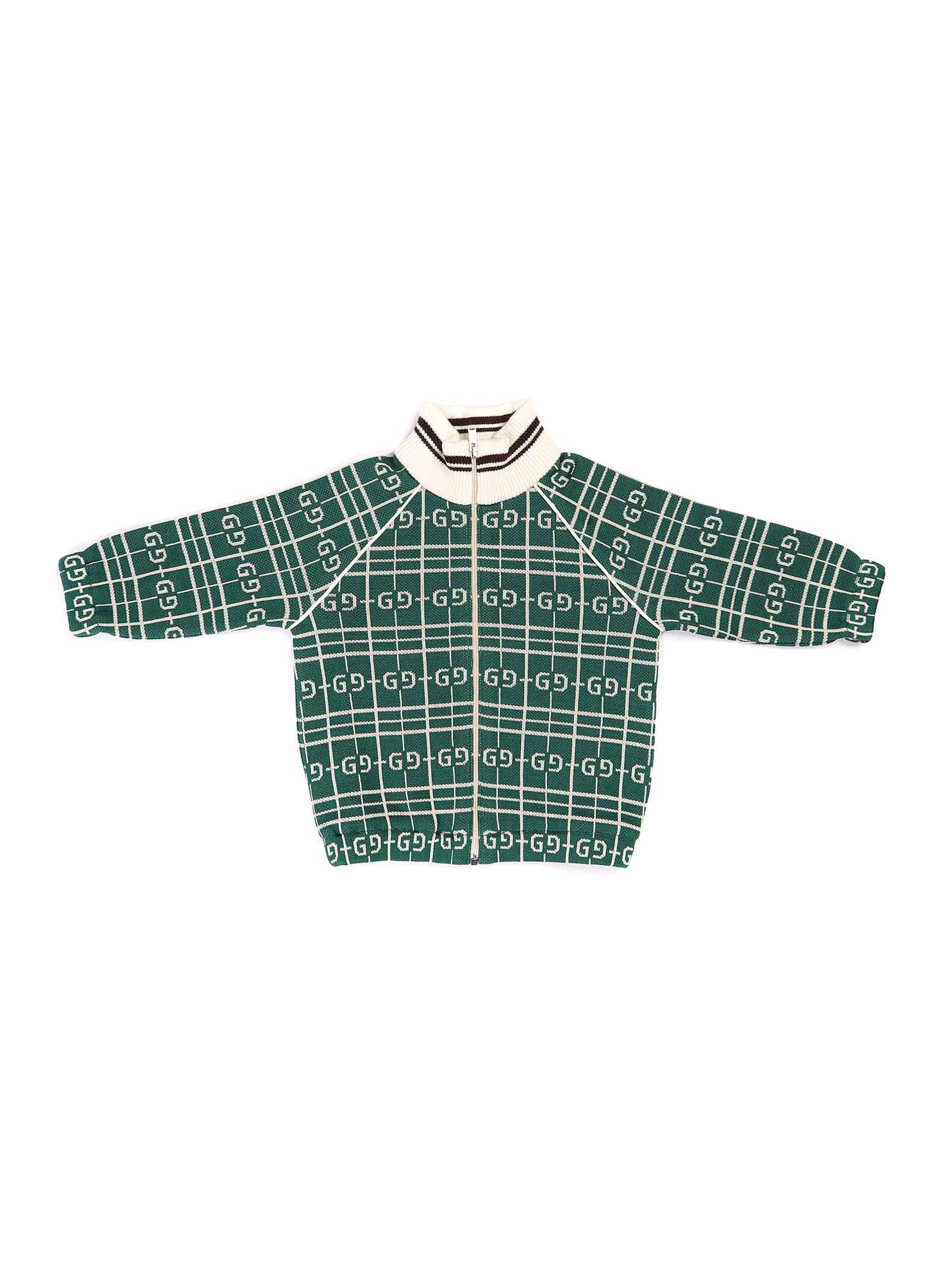felpa fondo verde lagata bianca Gucci | Felpa | 626298 XJCPK3872