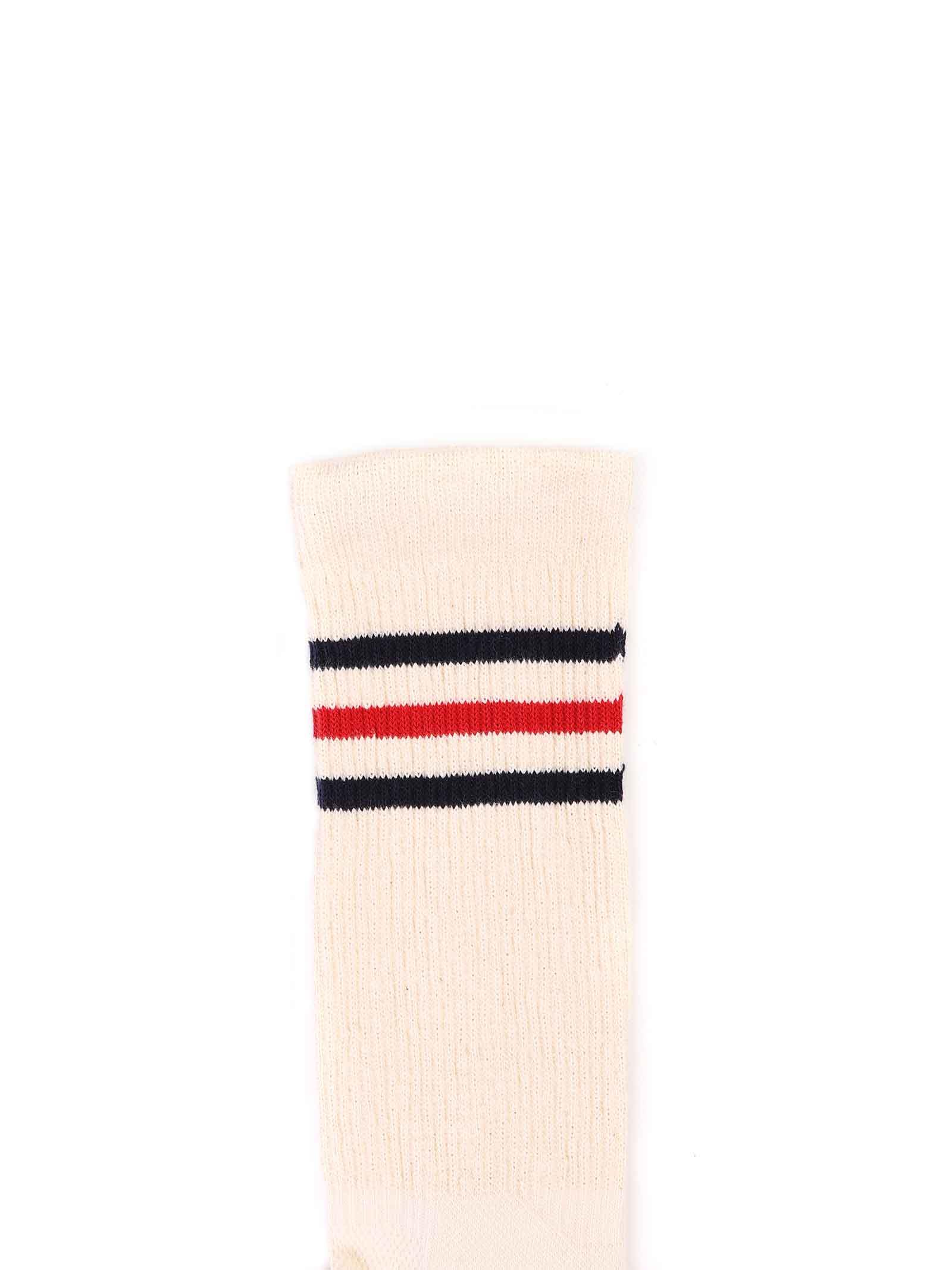 calzini avorio con strisce blu e rosse Gucci | Calzini | 630516 4K4289268