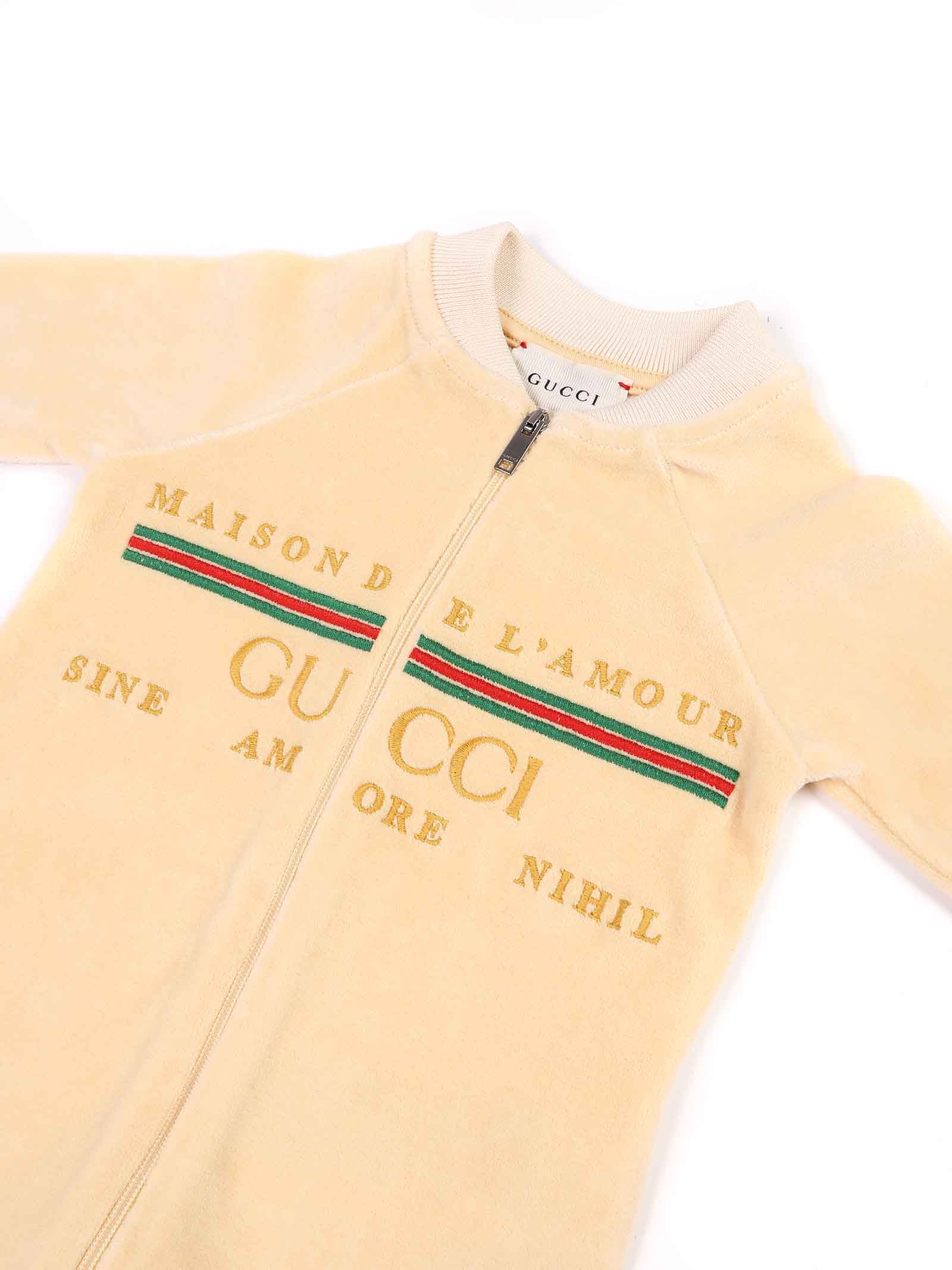tutina beige con logo Gucci | Tutina | 631034 XJCT79752