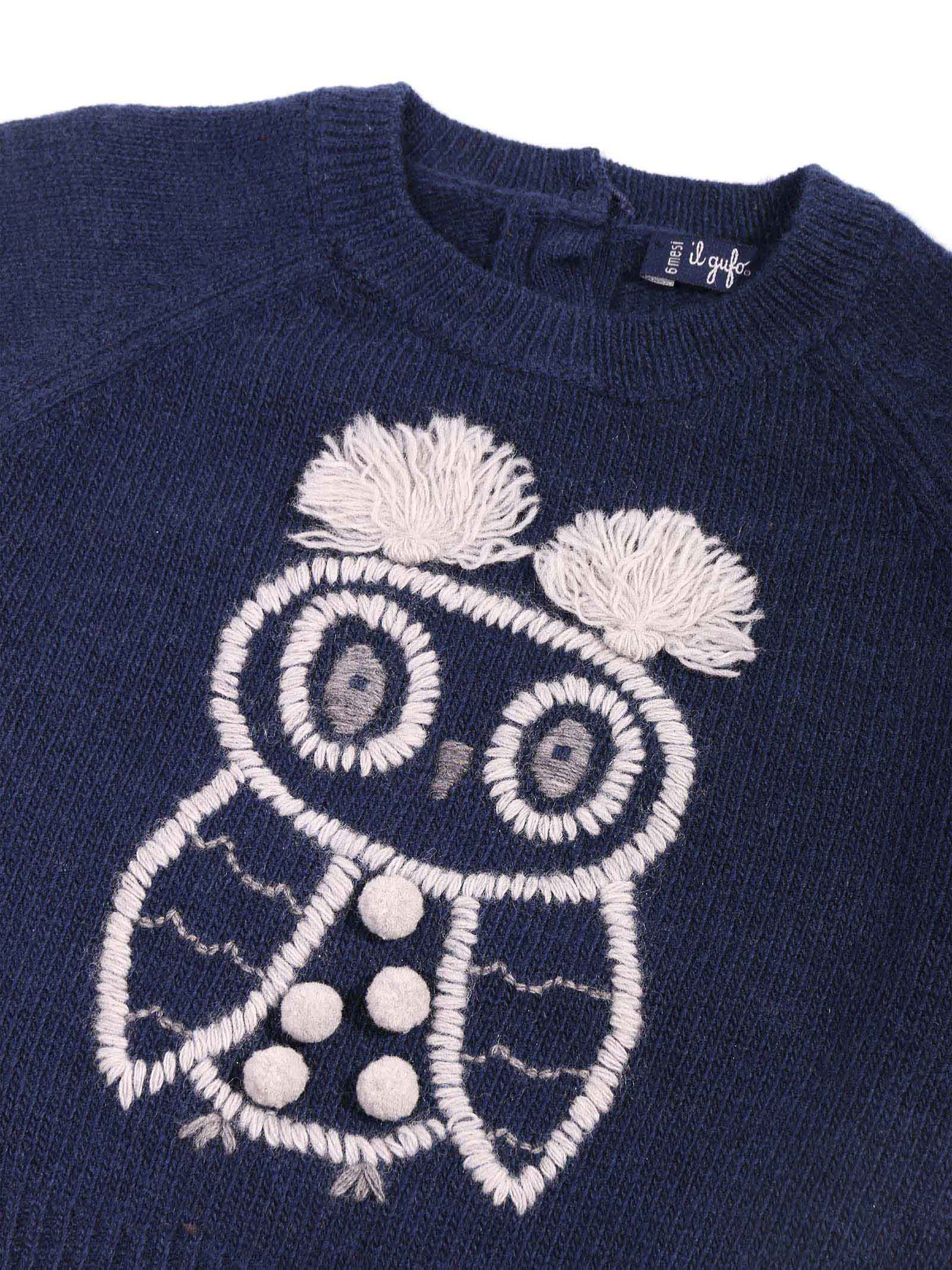 maglia blu con disegno IL GUFO | Maglia | A20MA324EM220487