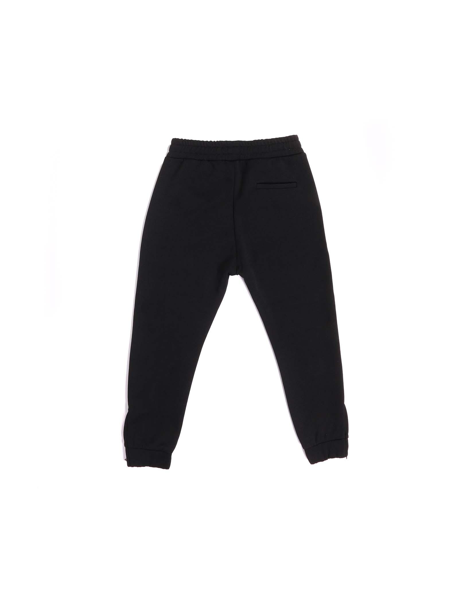 pantalone nero con scritta Paolo Pecora | Pantalone | P2466NERO