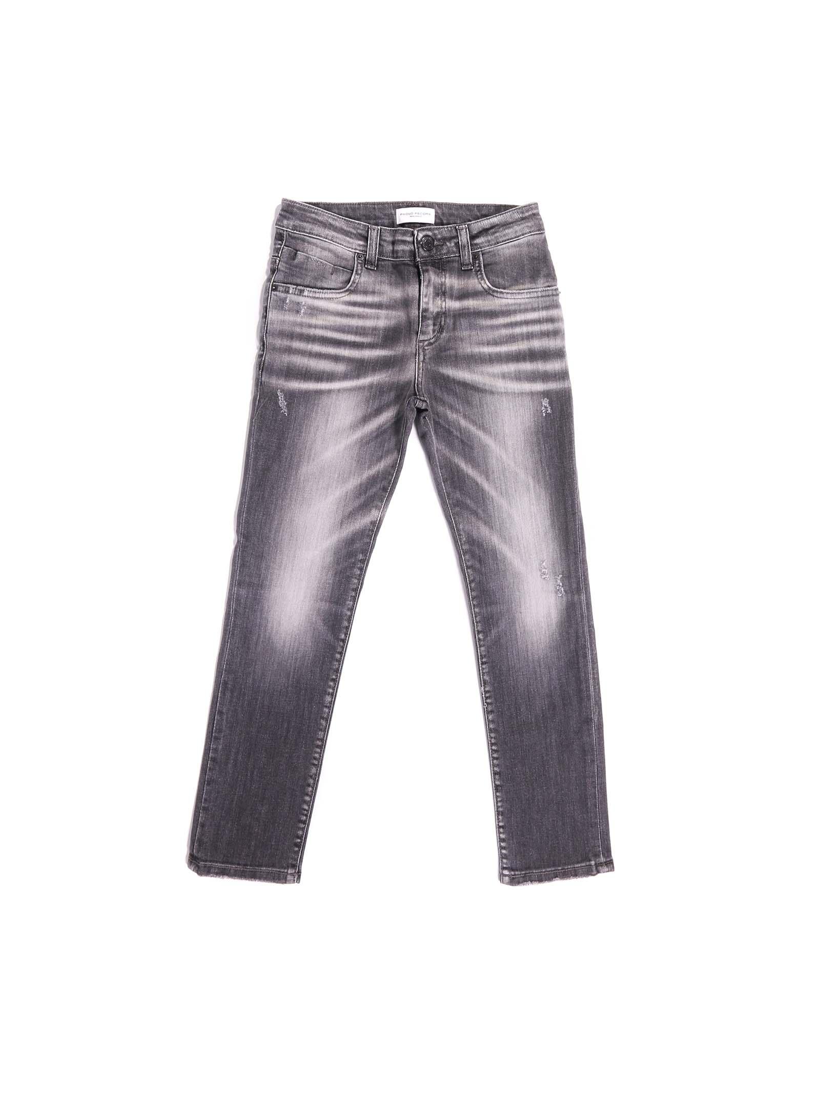 pantalone denim grigio Paolo Pecora   Pantalone   P2489NERO