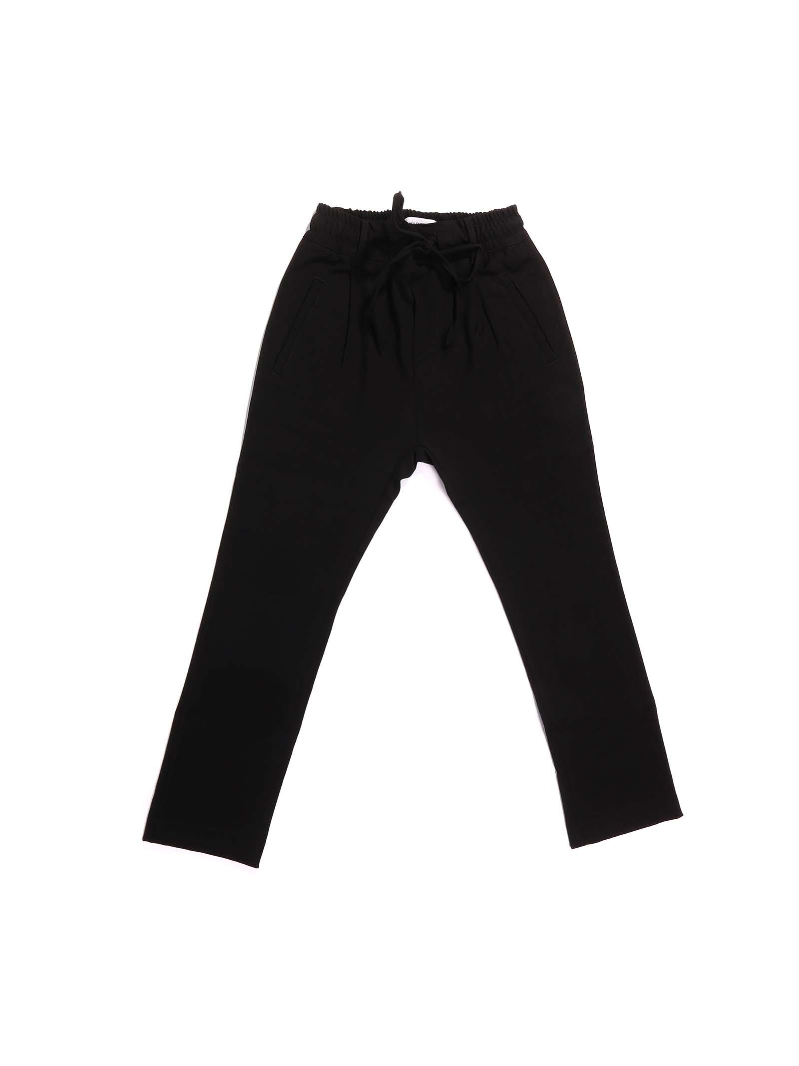 pantalone nero Paolo Pecora | Pantalone | P2500NERO