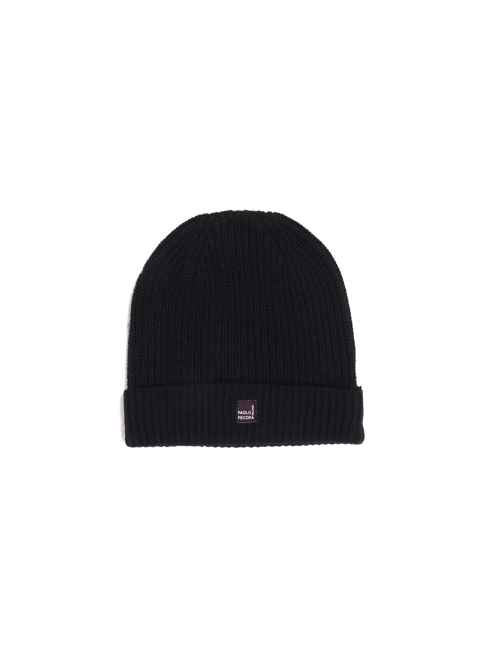 cappello nero Paolo Pecora   Cappello   P2516nero