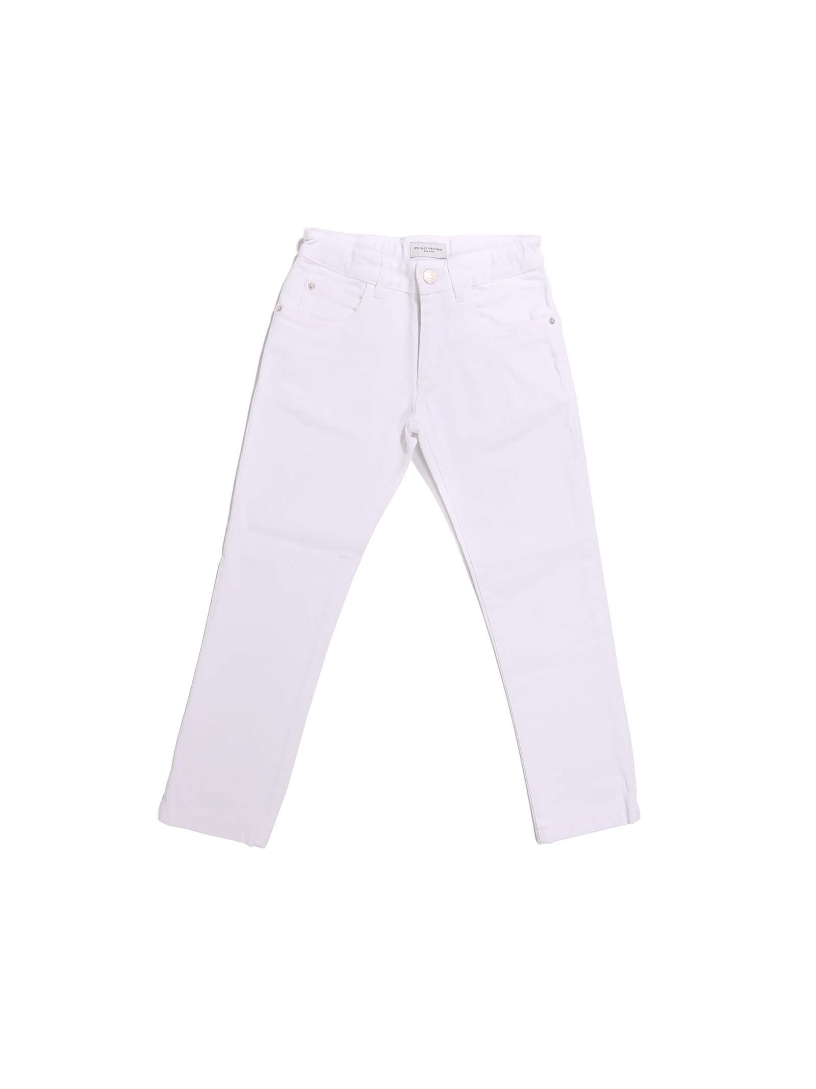 pantalone bianco Paolo Pecora | Pantalone | P2520BIANCO