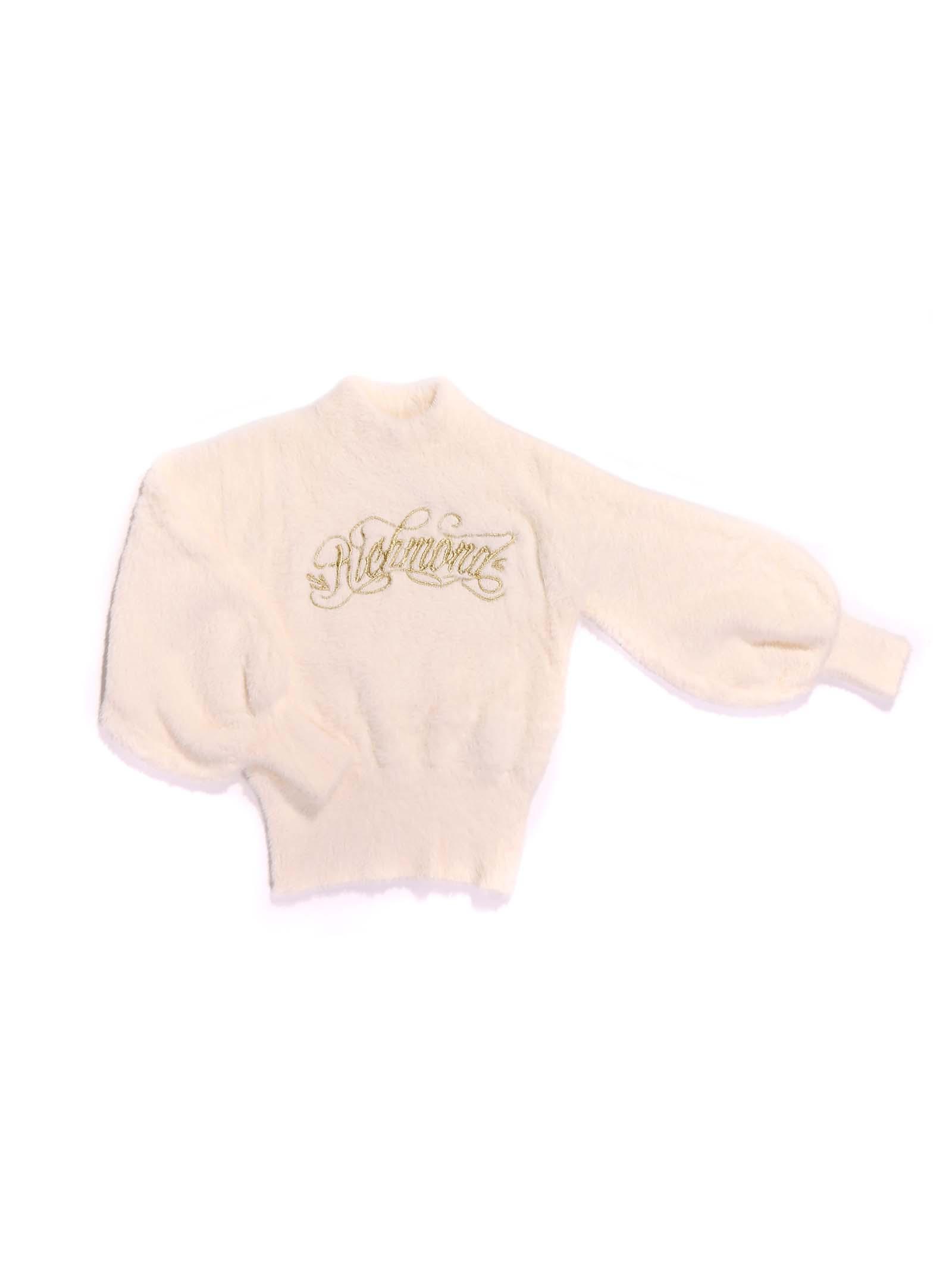 maglia bianca con scritta oro RICHMOND | Maglia | RGA20041MAGDPANNA