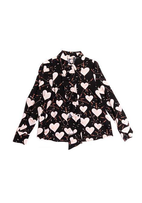 camicia con colletto a  fantasia  cuori Elisabetta Franchi | Camicia | EFCA104-GAE08-ZE0410150