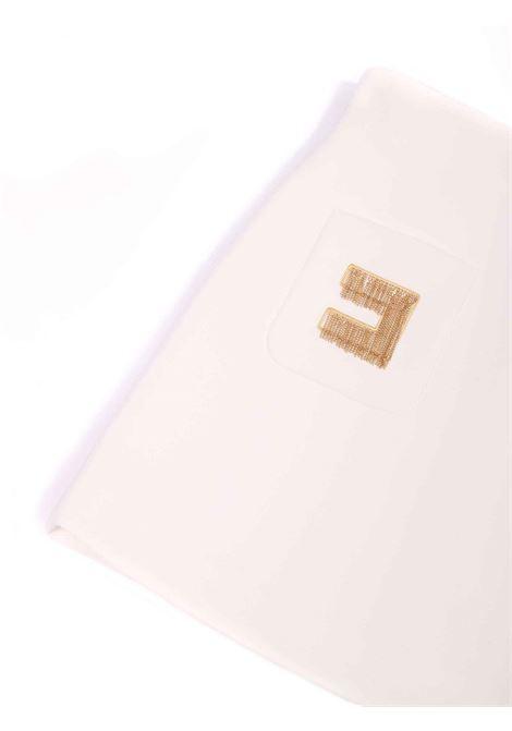 gonna bianca con dettaglio sulle  tasche Elisabetta Franchi | Gonna | EFG087-TV598-ZE0220075