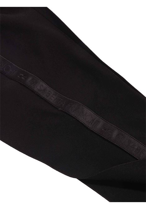 pantalone nero con banda laterale Elisabetta Franchi | Pantalone | EFPA95-GA85-ZE0220076