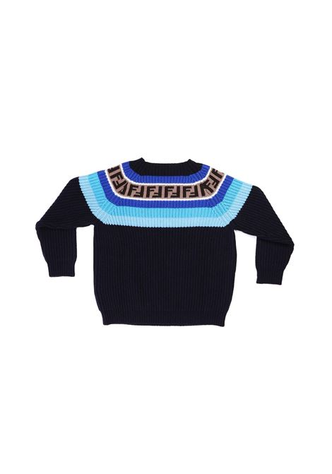 maglia giro collo batik Fendi | Maglia | JUG005 GM4F0UD6