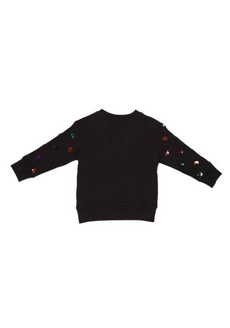 felpa nera con logo e pallettes Gucci | Felpa | 612189 XJCUB1082