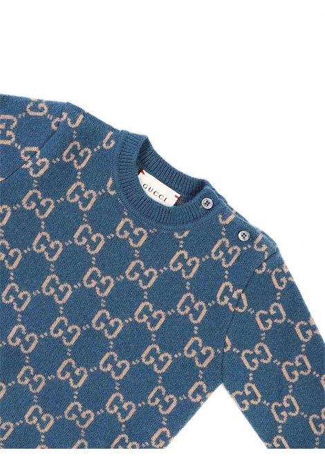 maglia avion con logo beige Gucci | Maglia | 6153844194
