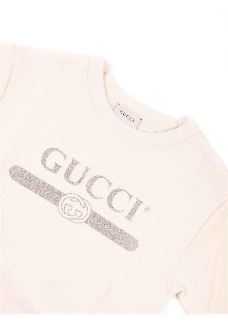 felpa bianca con logo Gucci | Felpa | 627964 XJCP59061