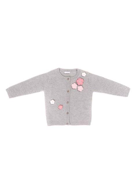 golfino grigio con applicazioni rosa IL GUFO | Golfino | A20GF347EM2200731
