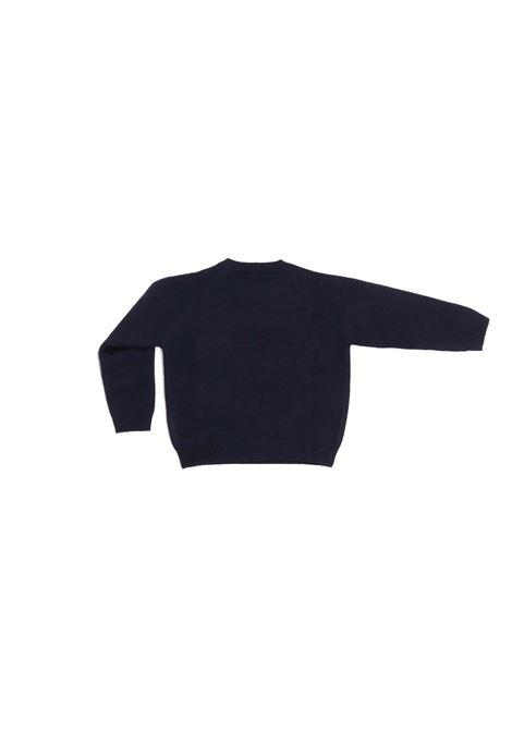 maglia fondo blu con corona IL GUFO | Maglia | A20MA318EM2204920