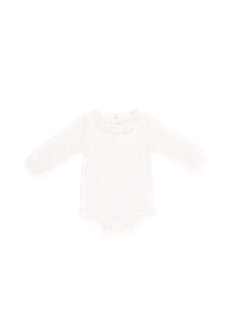 body bianco con rouche sul collo IL GUFO | Body | A20MB032M00941010